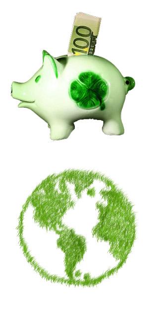 Sparen und Umweltschutz